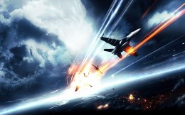 The battle in the sky, art for the game Battlefield 3