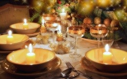 Christmas table setting in 2013