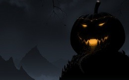 Giant pumpkin, wallpapers for Halloween