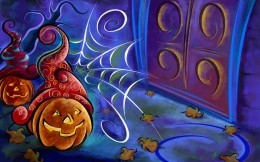 Painted pumpkins, wallpapers for Helouinu