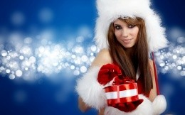 Snow Maiden with a gift
