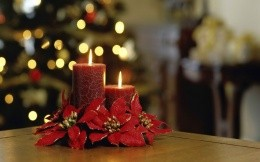 Two beautiful Christmas candles