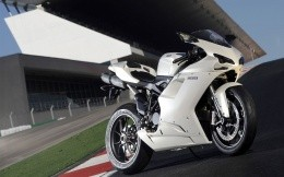 Bike Racing Ducati white