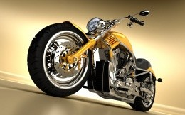 Classic motorcycle a la Harley Davidson