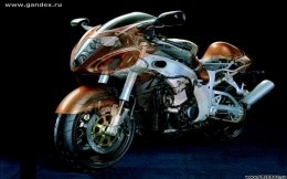 Modern sport bike motorcycle - wallpaper