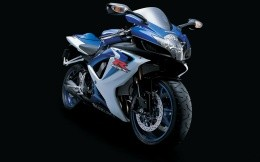The blue Japanese motorcycle Suzuki, wallpaper, motorcycles.