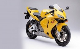Yellow sport bike Honda CBR