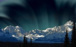 Northern Lights over Mount Mckinley, Alaska