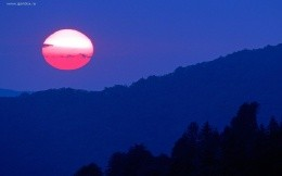 Sunrise in Tennessee, the mountains and the sun wallpaper.