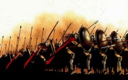 A sketch of the film The 300 Spartans