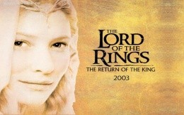 Background on the desktop Lords of the rings, 2003, movie, book