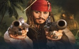 Captain Jack Sparrow with pistols