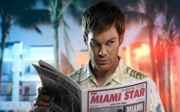 Dexter Miami Star with newspaper