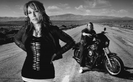 Gemma Teller Morrow and Jax Teller, photos from the movie Sons of Anarchy