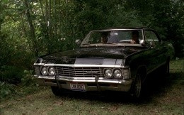 Heroes TV series Supernatural in the car Chevrolet Impala