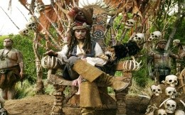 Jack Sparrow on the throne