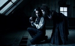 Johnny Depp and Helena Bonham Carter in the movie Sweeney Todd