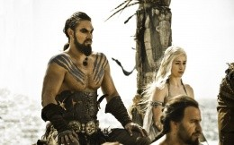Khal and Khalis, a scene from the movie Game of Thrones
