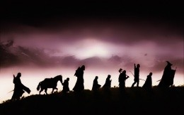Silhouettes of movie characters