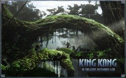 The film King Kong - wallpaper - jungle, King Kong, King Kong alive