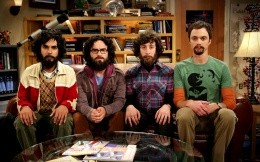 The main characters of the series The Big Bang Theory with beards