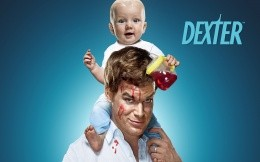 The poster of the 5th season of Dexter