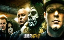 Creative photo wallpaper with musical group Limp Bizkit