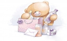Bear parses gifts