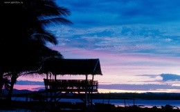 Beautiful views of the sunset in the Philippines wallpaper.