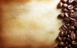 Coffee beans on a parchment