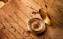 Compass and an old letter