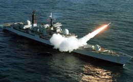 Cruiser launched a missile to destroy the target