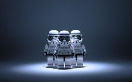 Lego fighters from the movie Star Wars.