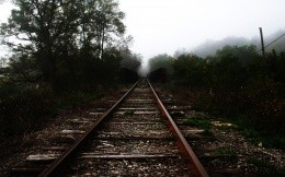 Old abandoned railway, beautiful wallpaper for your computer.