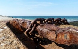 Old anchor chain, photo