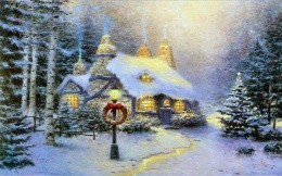 Painting Thomas Kinkade - Christmas