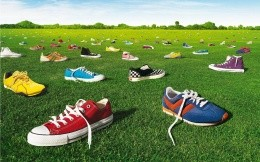 Sneakers under the sun