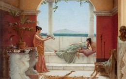 Sweet siesta of a summer day, a painting by John William Godward