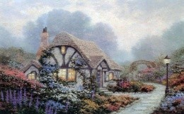 Thomas Kinkade - a beautiful country house