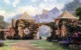 Thomas Kinkade - an arch with ivy
