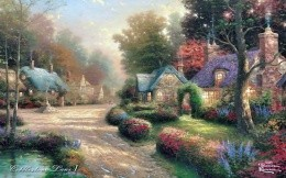 Thomas Kinkade - Collestone Lane