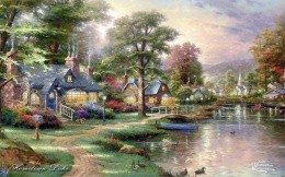 Thomas Kinkade Homeloun Lake