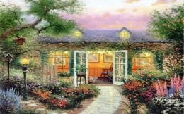Thomas Kinkade - Summer Patio Pergola