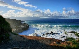 Beautiful wild beach sea coast