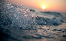 Dawn of sea spray