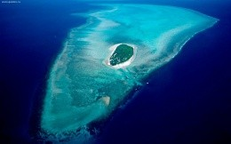 Sea, islands, Heron Island, Great Barrier Reef Marine Park in Australia, a widescreen picture for your desktop