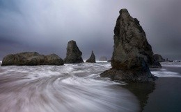Stones in the sea park Oregon, United States