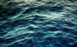 The calm water of the ocean, wallpaper for the 27 inch iMac.