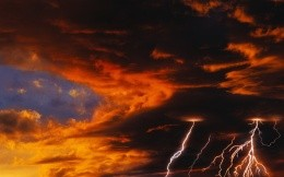 Sky with storm