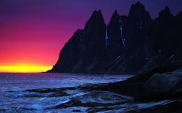Sunset Mountain Sea